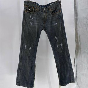 True Religion Jeans Mens Big T Red Org bootcut 38